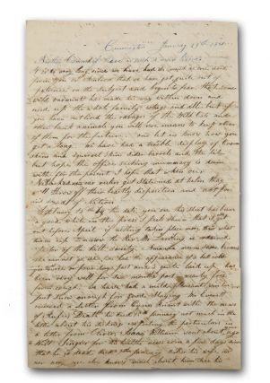 Two autograph letters to Ionia, Michigan pioneer and Massachusetts native Osmond Tower...