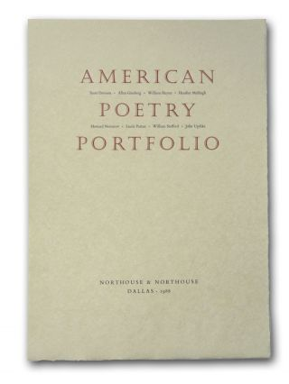 American Poetry Portfolio. Poetry, Scott Davison, Allen Ginsberg, William Heyen, Heather McHugh,...