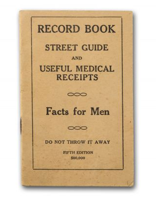 Record Book, Street Guide and Useful Medical Receipts. Facts for Men. Do Not Throw it Away. Fifth...