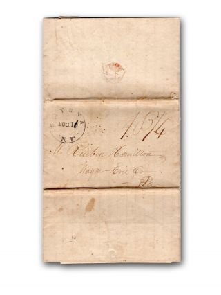 Extensive autograph letter, signed, to Reuben Hamilton in Erie, Penna., recounting a trip from...