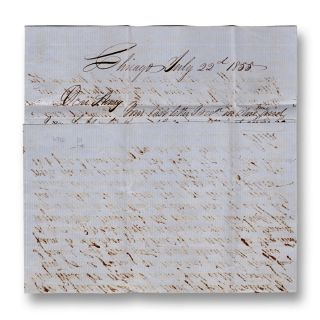 Autograph letter, signed John, to Wm. H. Pierce of Springwater, Livingston, New York. Angling,...