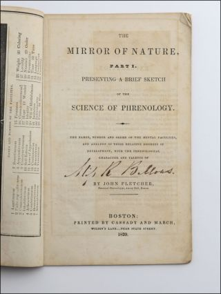 The Mirror of Nature, Part I. Presenting a Brief Sketch of the Science of Phrenology . ....