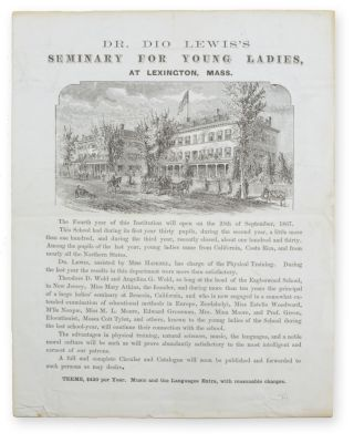Dr. Dio Lewis's Seminary for Young Ladies, at Lexington, Mass. [caption title]. Education, Women