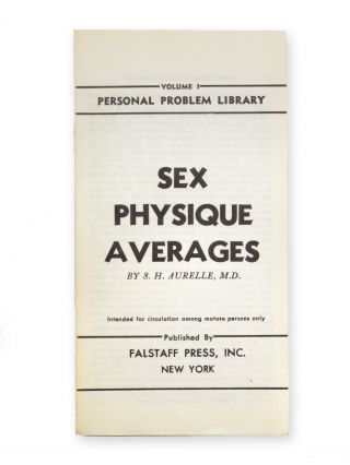 "Personal Problem Library. [Six sexology pamphlets published in a series, ""Intended for circulation among mature persons only""]."