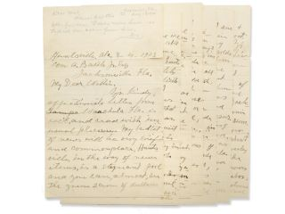 Autograph letter, signed W. A. Battle, to his son William B. Battle, Jr. in Jacksonville, Fla....