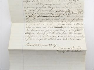 """Manuscript draft, """"Report of the Mines of the Bradshaw Gold and Silver Mining Company of Arizona."""""""