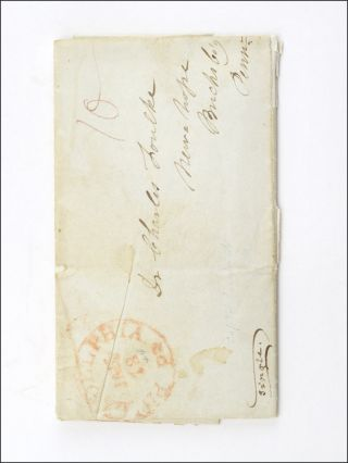 Autograph stampless cover letter, signed by Patterson and Kelley, to Charles Foulke of New Hope,...
